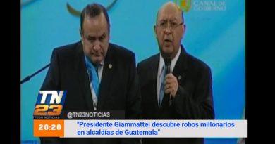 Presidente Giammattei descubre robos millonarios en alcaldías de Guatemala