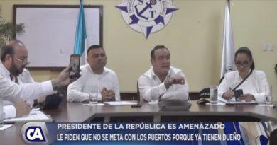 Presidente Giammattei es amenazado por verificar Puertos de Guatemala