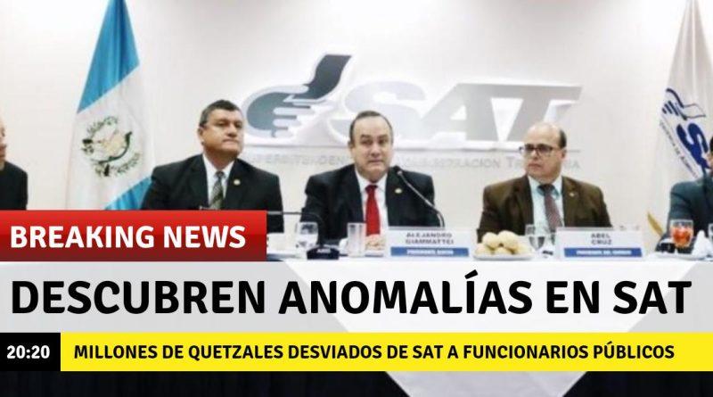 Presidente Giammattei descubre anomalías en SAT