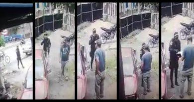 VIDEO Policía cobrando extorción, todo quedo grabado