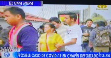 Posibles casos de COVID-19 en CHAPIN deportados de Estados Unidos