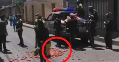POLICIAS MUNICIPALES DECOMISAN PRODUCTO A COMERCIANTE