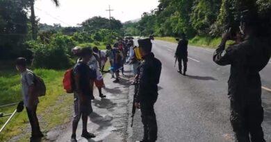 Más de 150 migrantes fueron detenidos antes de cruzar la frontera con Guatemala