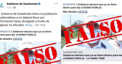 Gobierno de Guatemala declaro que damos información falsa