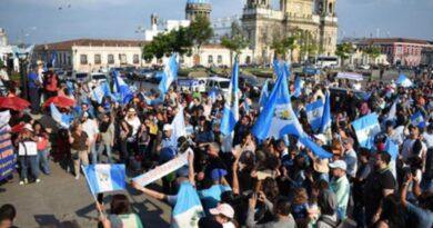 Anuncian una protesta masiva en la Zona 1 de Guatemala para este martes