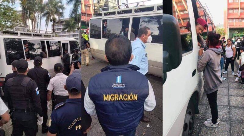 Capturan a migrantes que realizaban asaltos en centro histórico de la ciudad de Guatemala