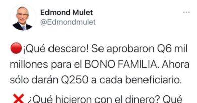 Esto le dijo Edmon Mulet llama ladrones a todos los del Gobierno de Guatemala