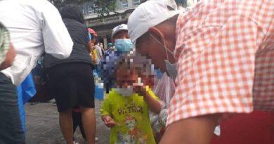 Captan imagen donde una menor fue afectada por los ataques de la PNC