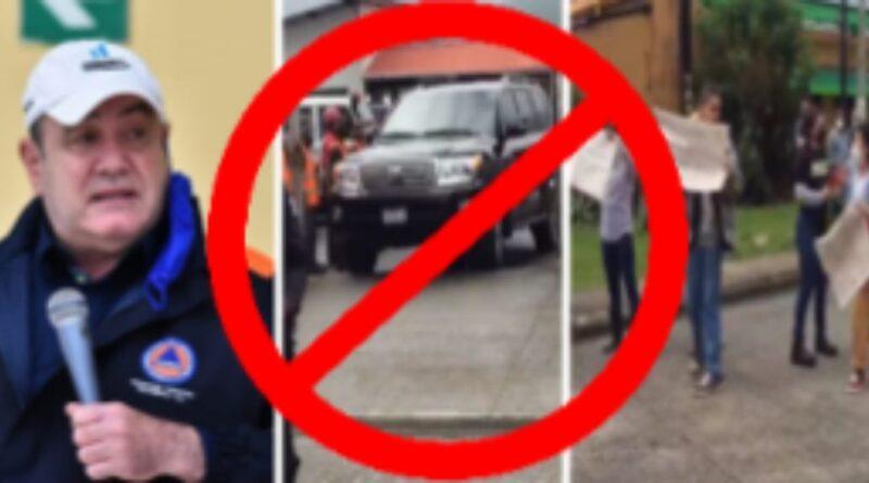 Declaran NON GRATO en Izabal y Alta Verapaz al presidente Giammattei