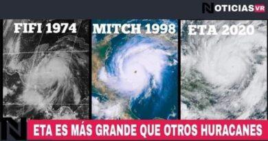 Huracán ETA aumentara de categoría a 5 durante y llegara a Guatemala