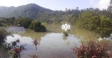 Parroquia está inundada hasta la cúpula entre Cobán y Carchá, Alta Verapaz