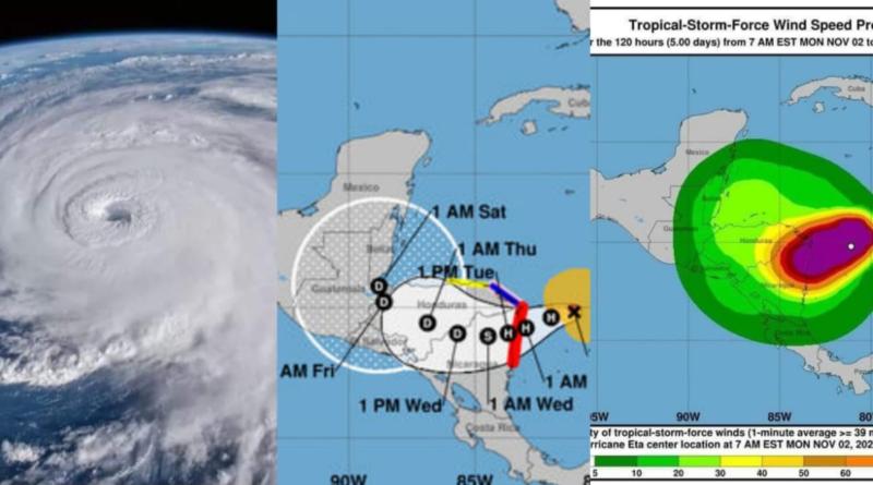 Huracán ETA entra en categoría 5 y afectará a Guatemala mucho más que el MITCH