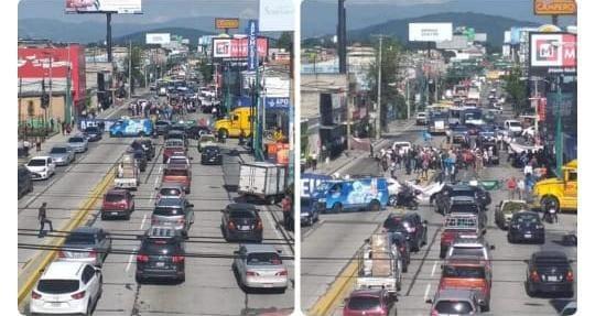 Manifestantes cierran la ciudad capital de NORTE A SUR